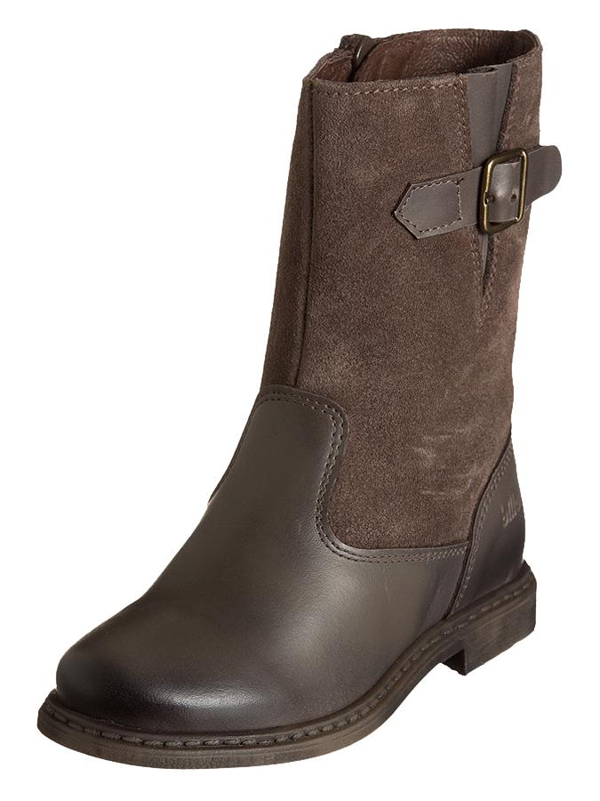 Billowy Leder-Stiefel in braun -58% | Größe 24 | Flache Stiefel