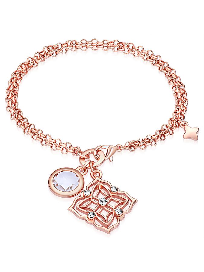 Lilly & Chloe Rosévergold. Armkette mit Anhänge...