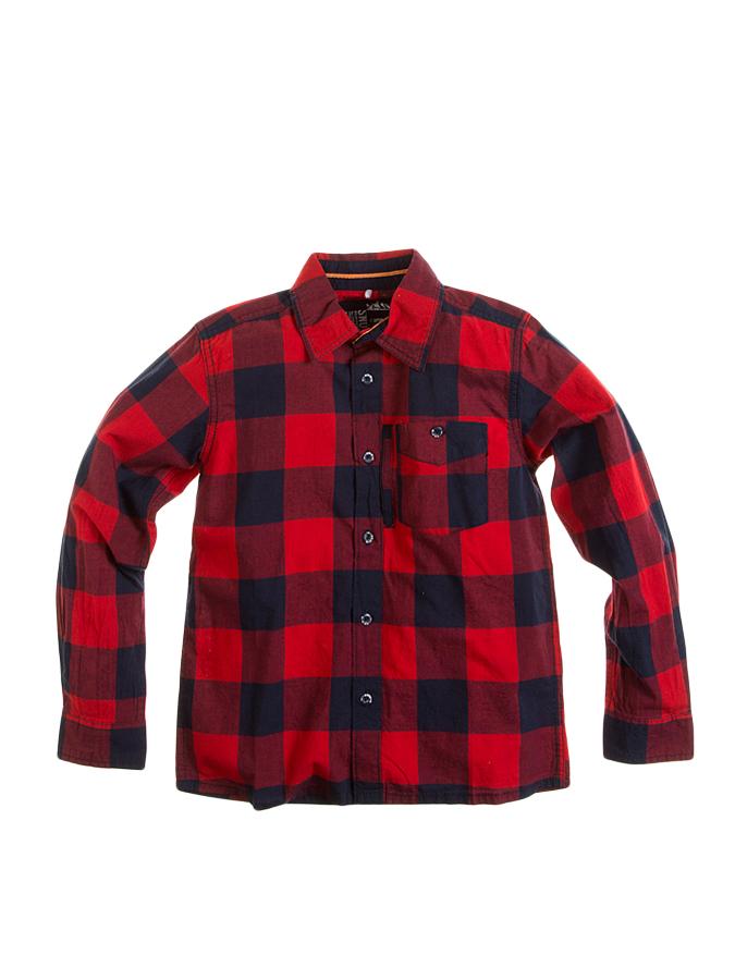 Name it Hemd in Rot/ Schwarz -52% | Größe 134/140 | Hemden