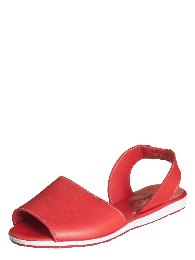 Andrea Conti Leder-Sandalen in Rot -56%   Größe 38 Sandaletten Sale Angebote Schipkau