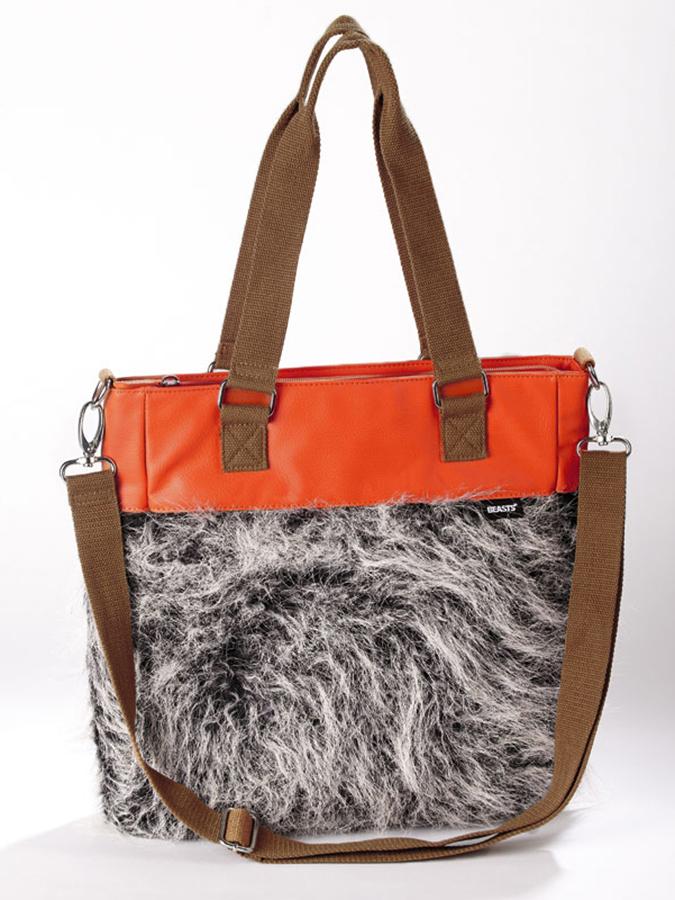 Sigikid Shopper ´´Kiki Kiwi´´ in braun - (B)30 x (H)34 (T)7 cm -60%   Shopping Bags Sale Angebote Gastrose-Kerkwitz