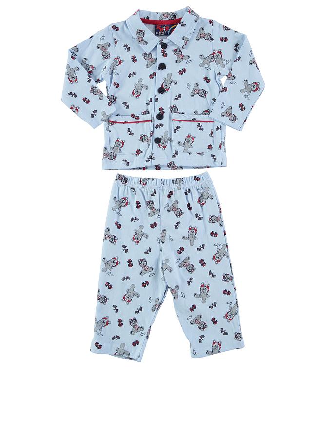Knot so bad Pyjama ´´Bears Racing´´ in hellblau -70 Größe 68 Pyjamas