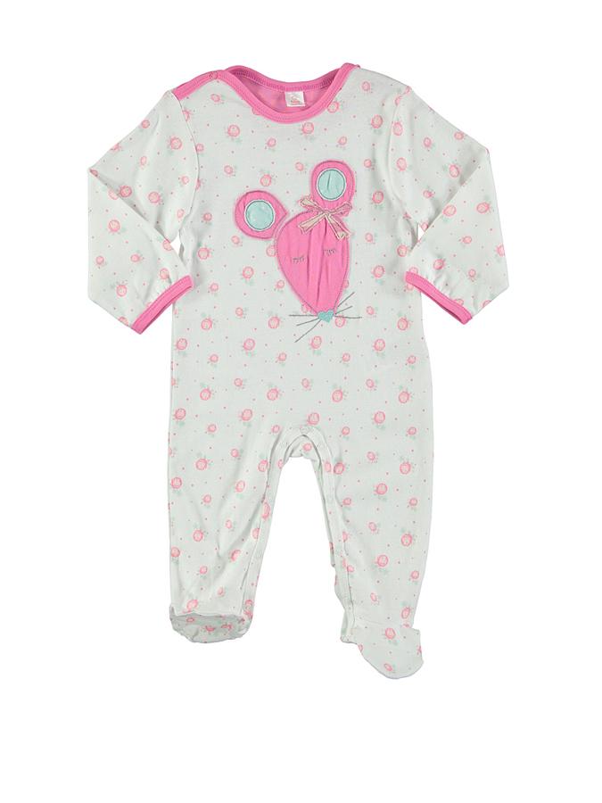 Kanz Schlaf-Overall in weiß -56 Größe 74 Pyjamas