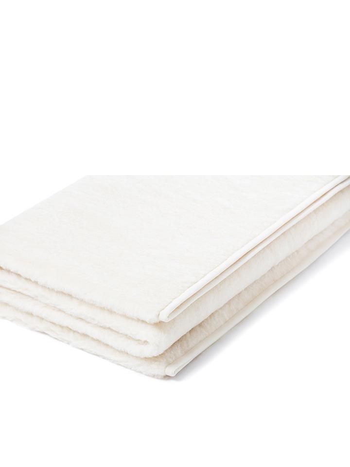 Royal Dream Woll-Decke in Creme - 49% | Größe 1...