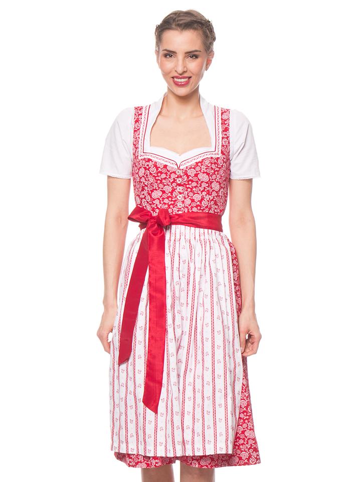 Turi Landhaus Midi-Dirndl ´´Maike´´ in Rot - 62% | Größe 36 Damen dirndl jetztbilligerkaufen