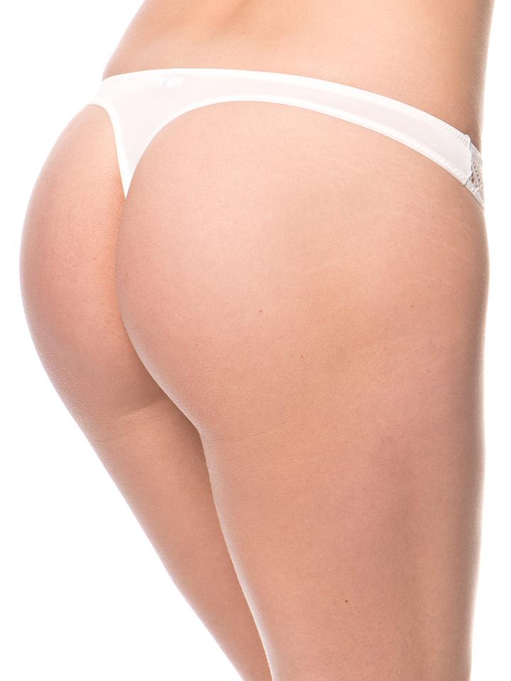 Mariemeili String in Creme -55% | Größe XL Panties