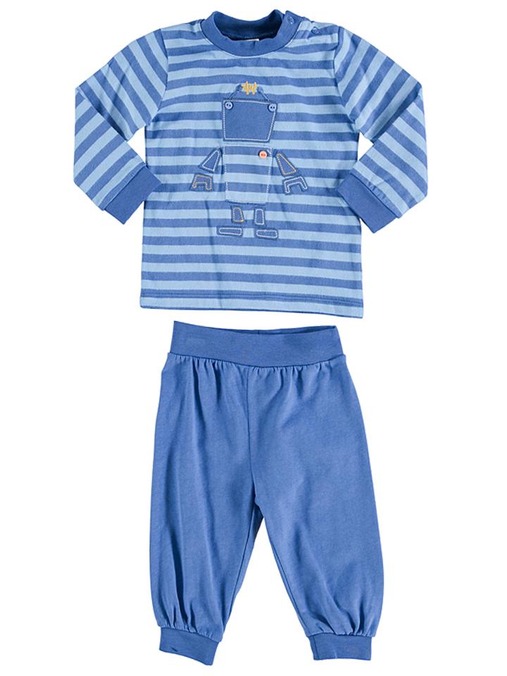 Kanz Pyjama in Blau -59 Größe 68 Pyjamas