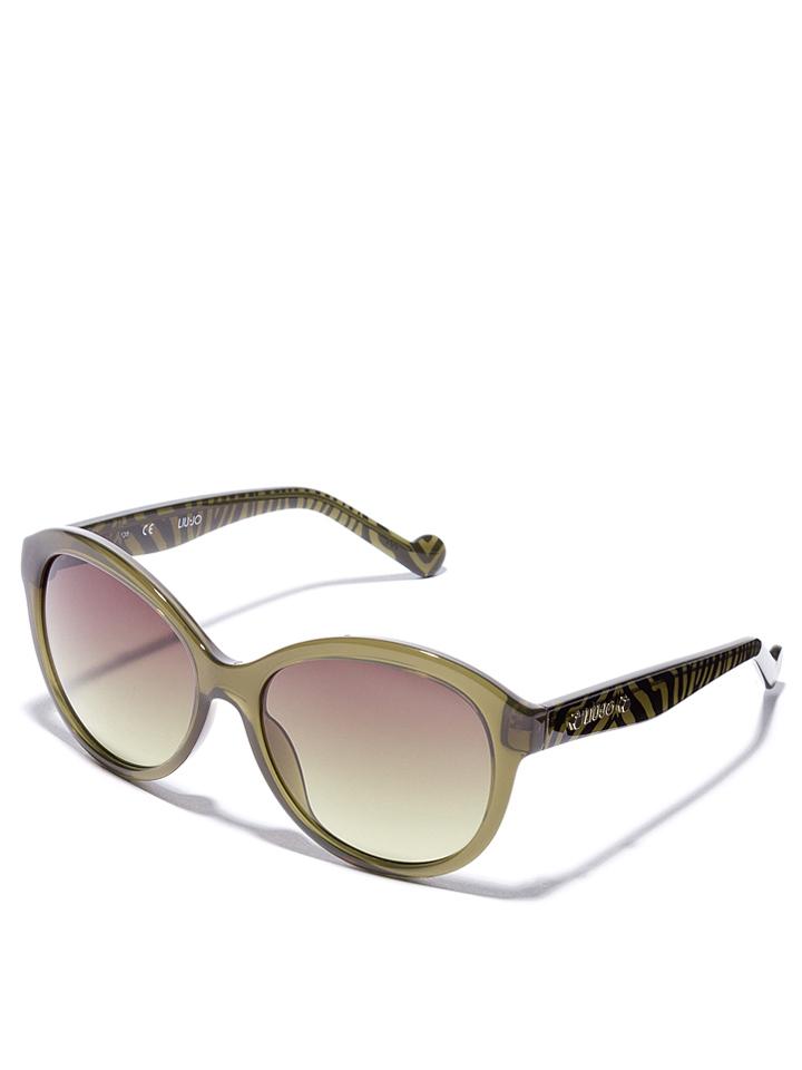 Liu Jo Damen-Sonnenbrille in Oliv -51 Größe 57 Sonnenbrillen