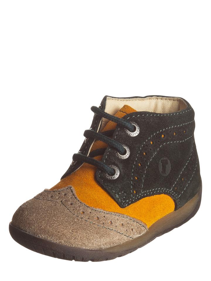 Naturino Leder-Sneakers in schwarz/ beige -44% | Größe 21 Sneaker High Sale Angebote Bagenz
