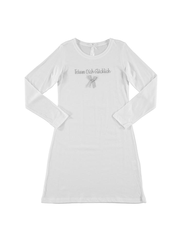 Louis Louisa Nachthemd ´´Träum dich glücklich´´ in Weiß -70 Größe 92 98 Nachtwäsche