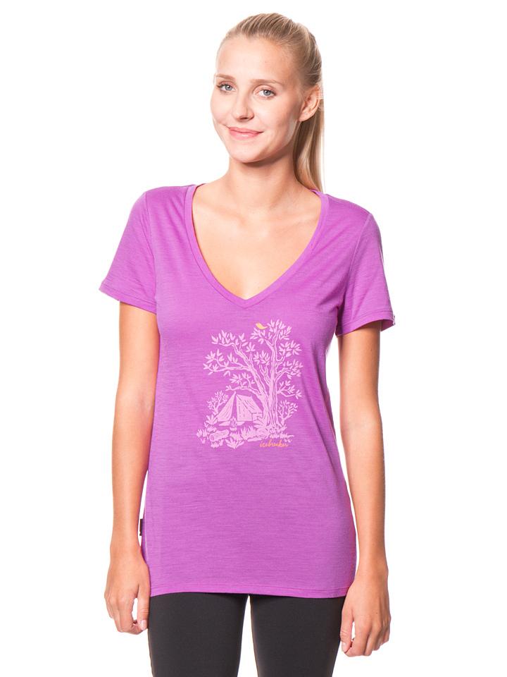 Icebreaker Funktionsshirt ´´Tech Lite´´ in Lila -68% | Größe XS T-Shirts Sale Angebote Dissen-Striesow