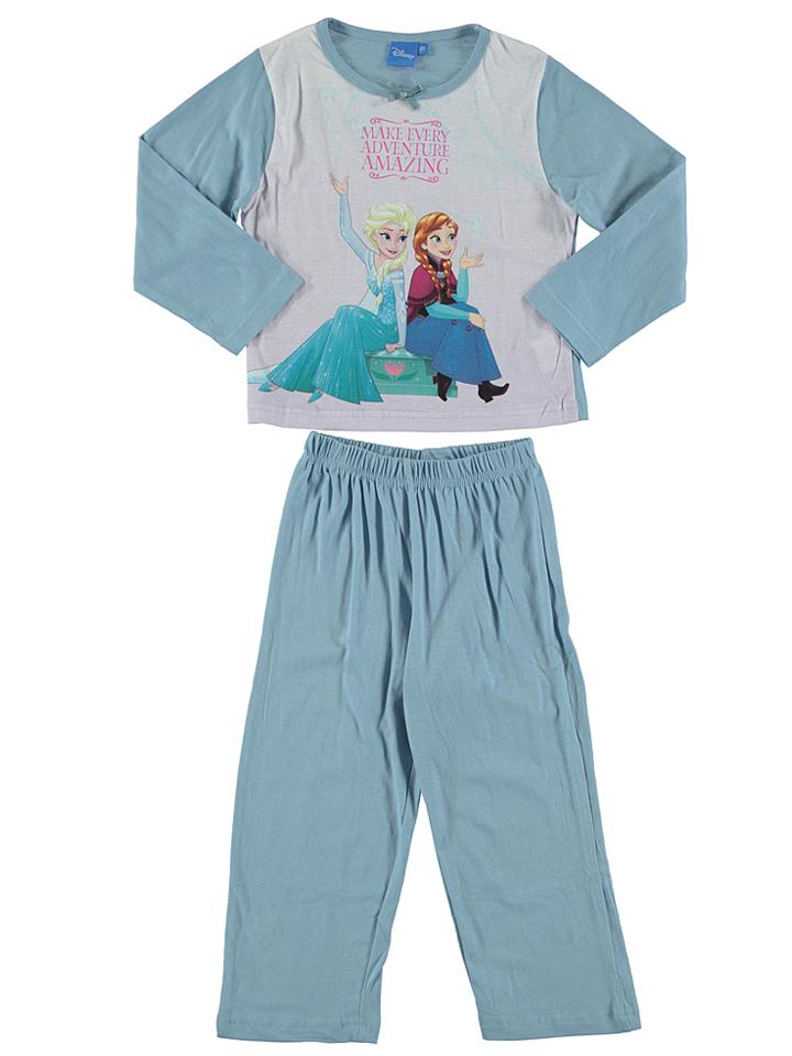 Disney Frozen Pyjama ´´La Reine des Neiges´´ in Hellblau - 72 Größe 86 Baby waesche