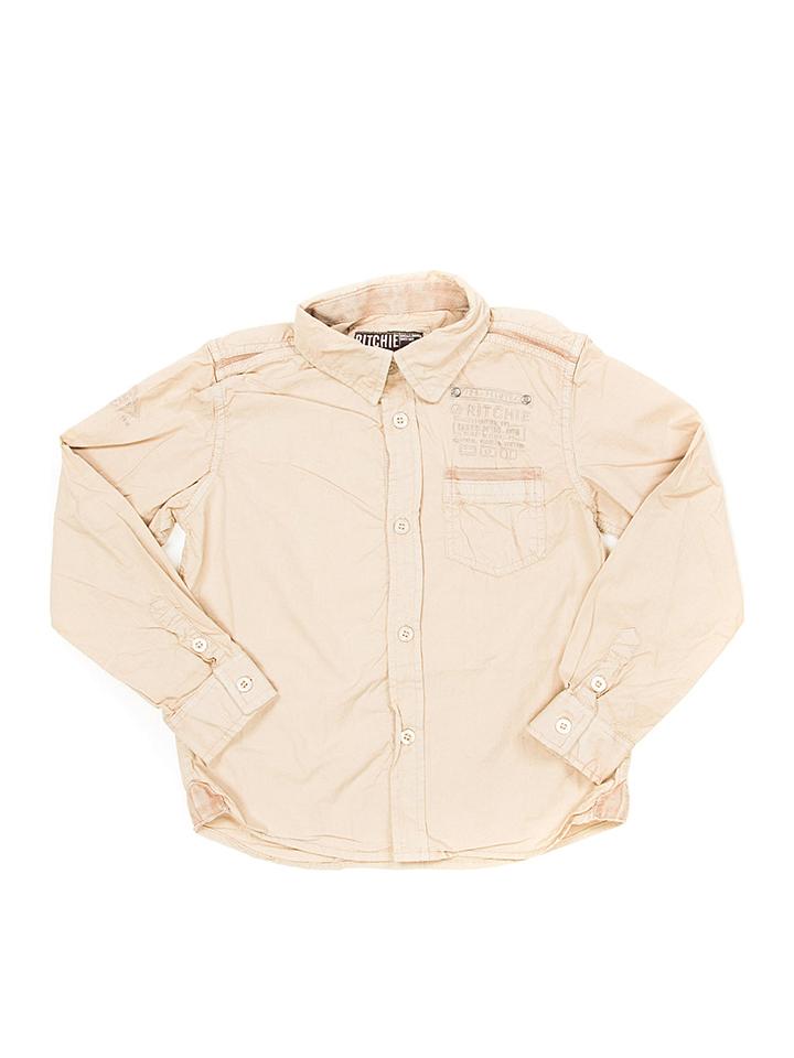 Graustein Angebote RITCHIE Hemd ´´Tocolaty´´ in Beige - 69% | Größe 164 Kinderhemden