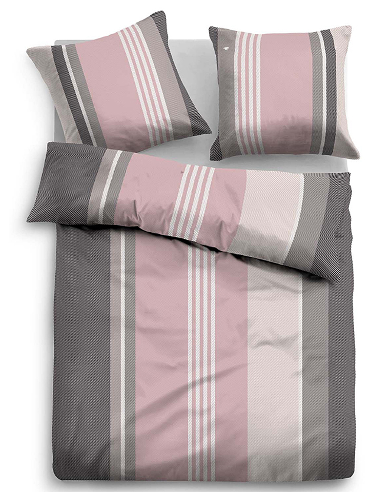 shopthewall tom tailor biber bettwsche set in grau 50. Black Bedroom Furniture Sets. Home Design Ideas