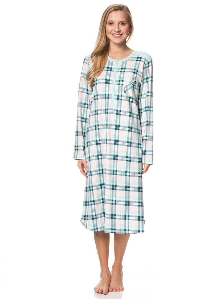 Calida Nachthemd in Türkis - 47%   Größe XS Damenwaesche