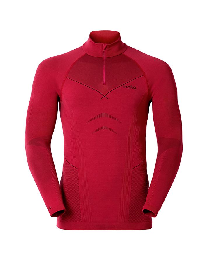 Odlo Funktionsshirt ´´Evolution´´ in Rot -43%   Größe XL Longsleeve Sale Angebote Wiesengrund