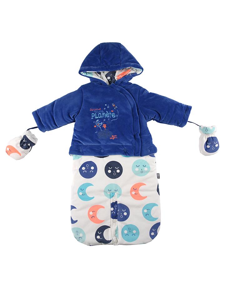 Kiekebusch Angebote Petit Beguin Winterschlafsack in Blau - 41% | Größe 80/86 Babyschlaf