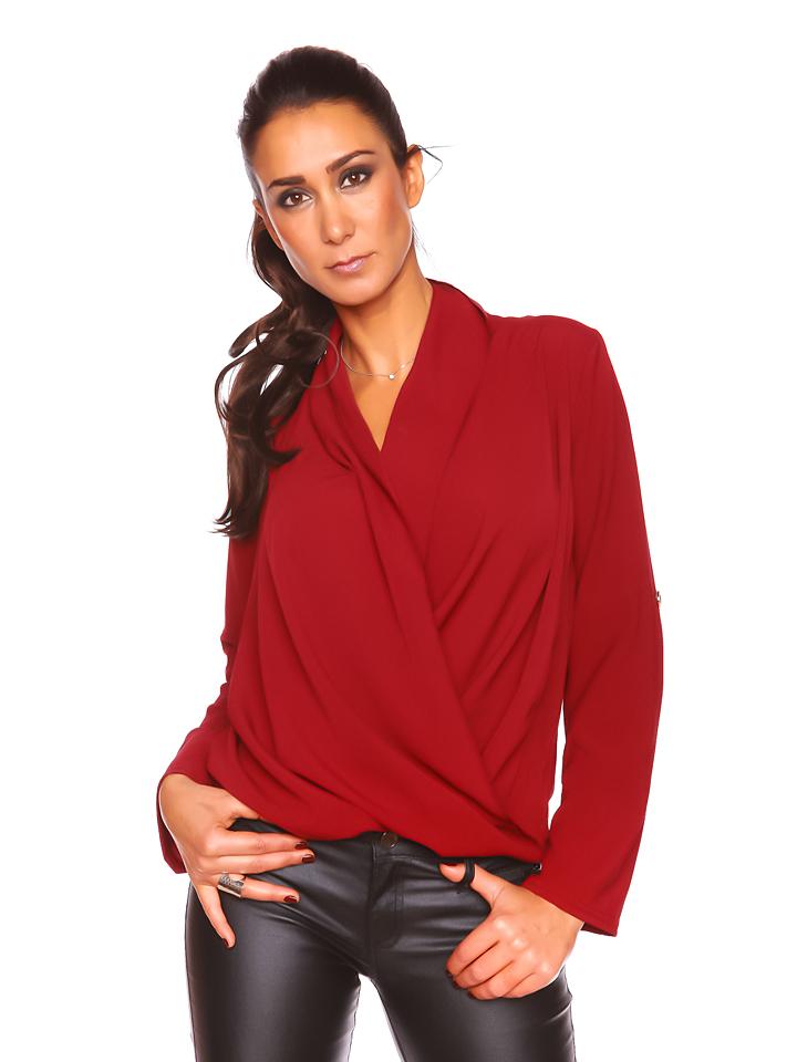 Inedit Shirt ´´Aurelie´´ in Bordeaux -57% | Größe L Langarm Tops Sale Angebote Frauendorf