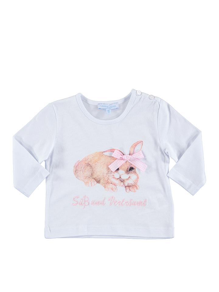 Louis Louisa Shirt ´´Hase´´ in Weiß -30 Größe 56 62 Nachtwäsche