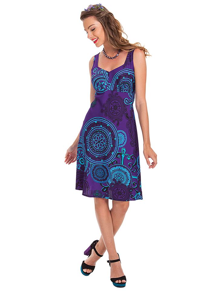Aller Simplement Kleid in lila -54%   Größe 34 Kleider Sale Angebote Gastrose-Kerkwitz