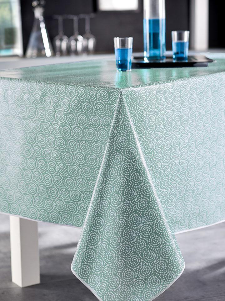 Groß Döbbern Angebote Calitex Tischdecke ´´Saigon´´ in Blau - 78% | Größe 180 cm Tischwaesche