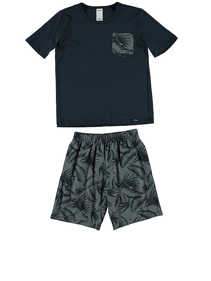 Skiny Pyjama in dunkelblau -38% | Größe 176 Pyjamas Sale Angebote