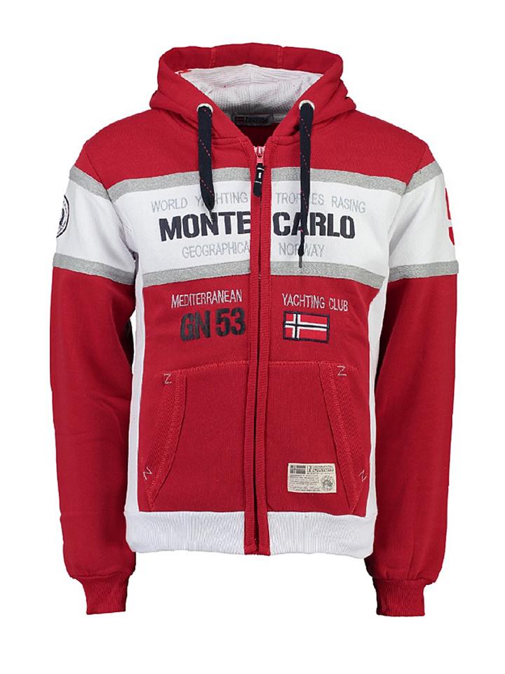 Geographical Norway Sweatjacke ´´Ganton´´ in Rot - 67% | Größe S Herren pullover sport