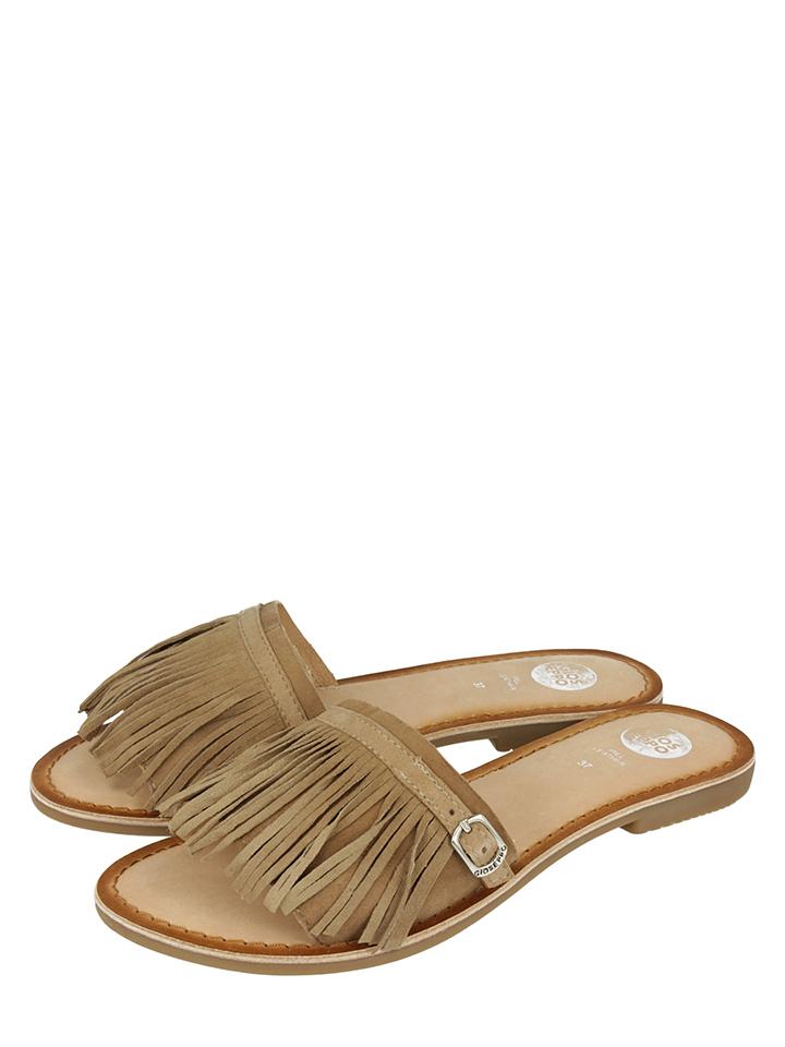 Gioseppo Leder-Pantoletten ´´Hautain´´ in Beige - 60% | Größe 37 Damen pantoletten
