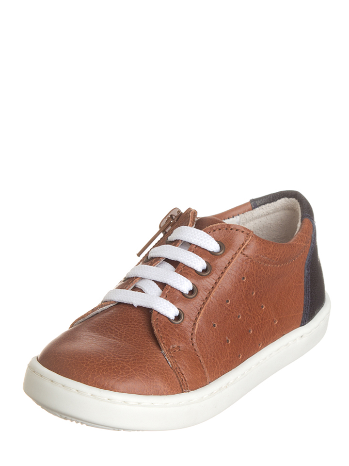 Kmins Leder-Sneakers in Hellbraun - 32%   Größe 36 Kindersneakers