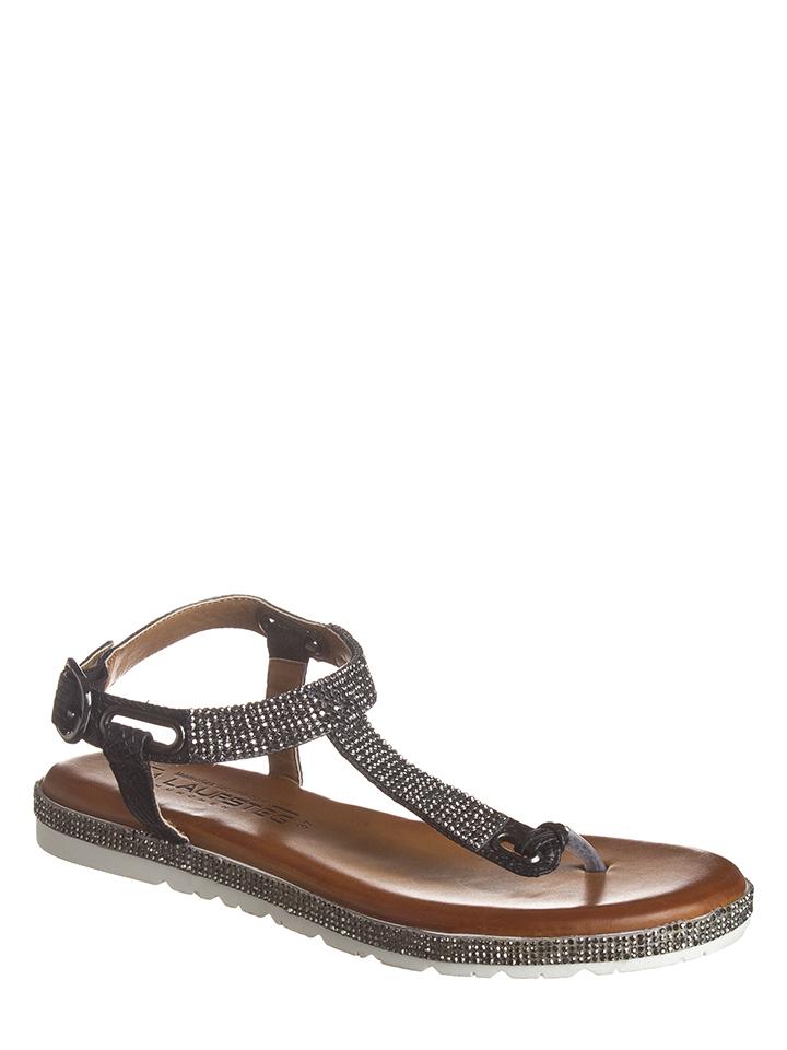 Laufsteg Zehentrenner in Schwarz - 59% | Größe 40 Damen sandalen