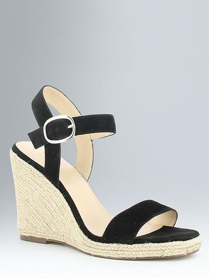 JONAK Leder-Sandaletten in Schwarz - 67% | Größe 41 Damen sandalen