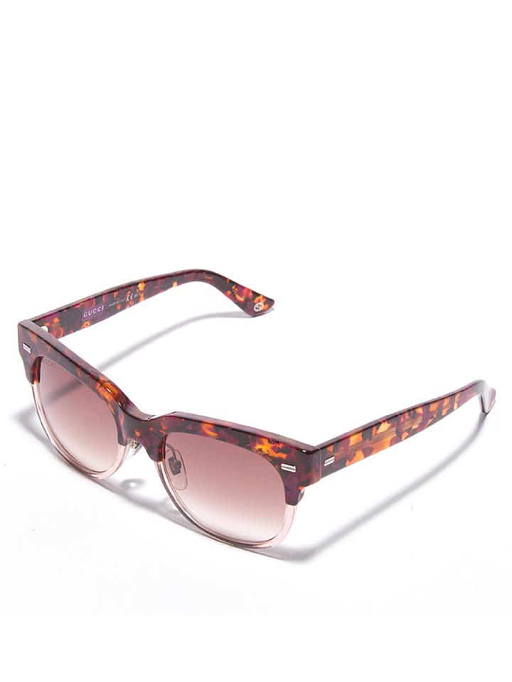 Gucci Damen-Sonnenbrille in Havana-Rosa/ Rosa -59% | Größe 52 Sonnenbrillen Sale Angebote Lieskau