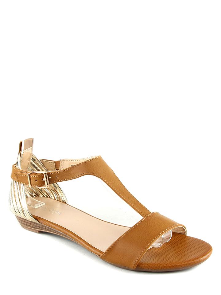 Sixth Sens Sandalen in Camel - 66 Größe 37 Damen sandalen
