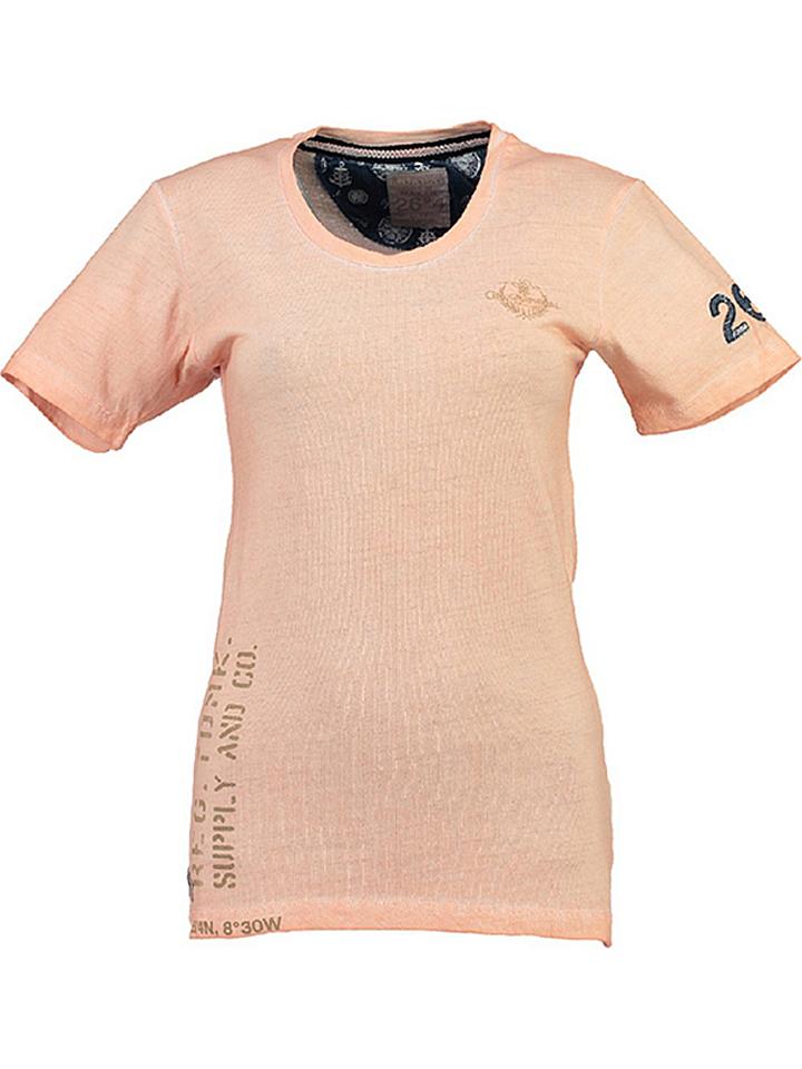 Geographical Norway Shirt ´´Judefruit´´ in Apricot - 59% | Größe XXL Damen tops
