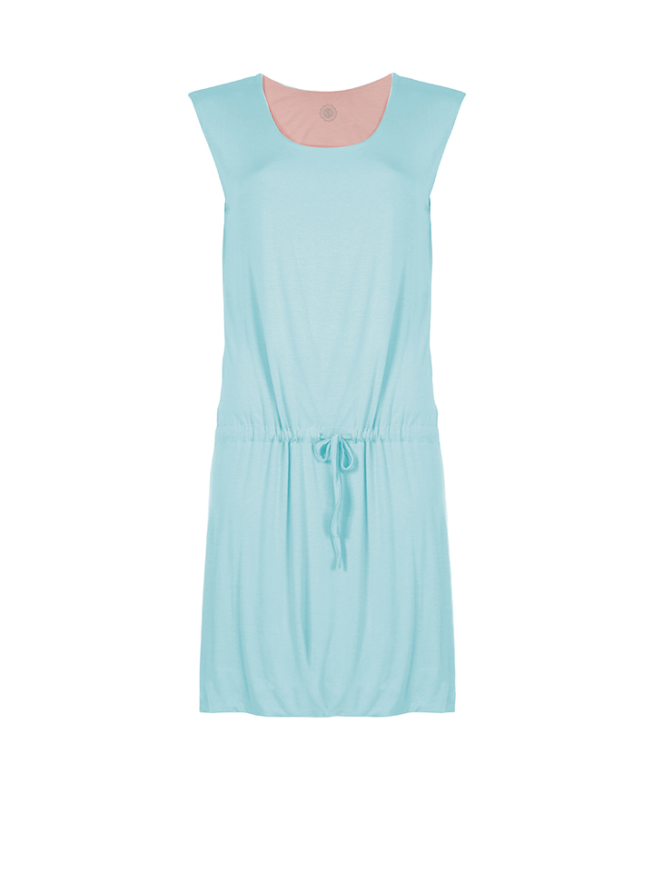 Poivre Blanc Kleid in hellblau -48% | Größe XS Kurze Kleider Sale Angebote Terpe