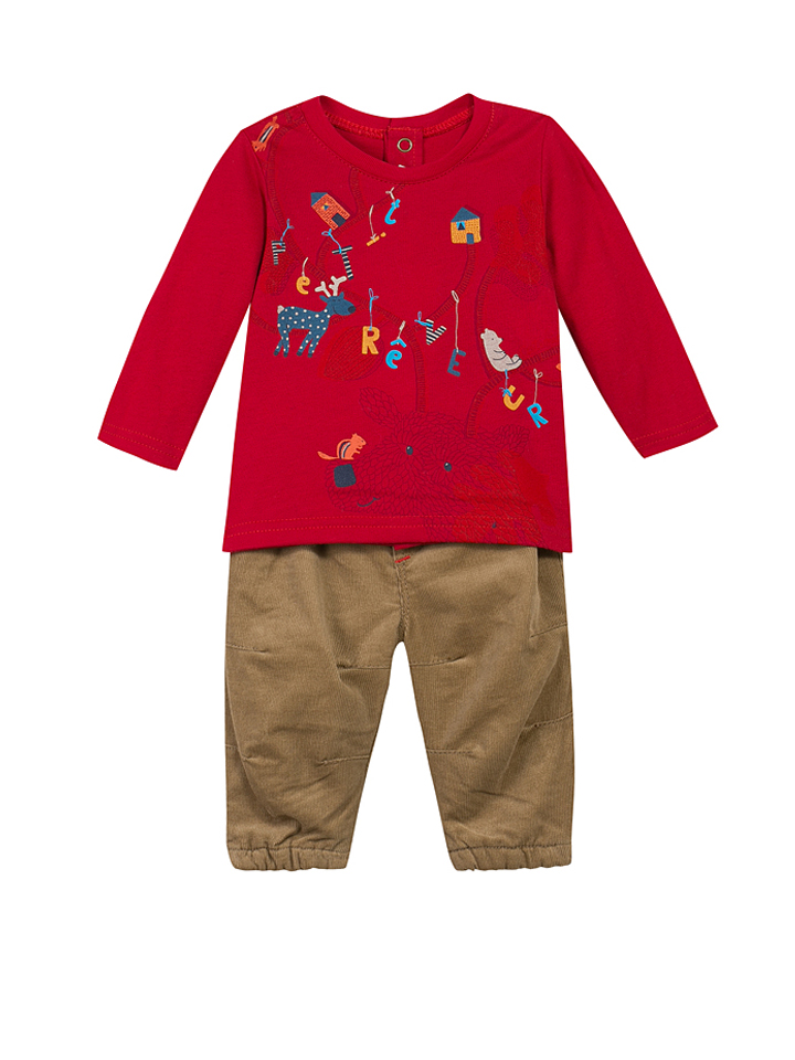 Griesen Angebote Catimini 2tlg. Outfit in Rot - 53% | Größe 68 Baby shirts