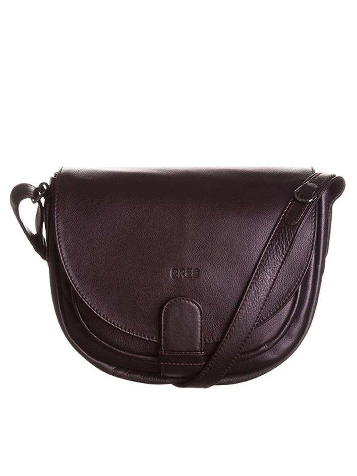 Bree Leder-Umhängetasche ´´Lady Top 2´´ in Rotbraun - (B)26 x (H)21 (T)11 cm -46% | Umhängetaschen Sale Angebote
