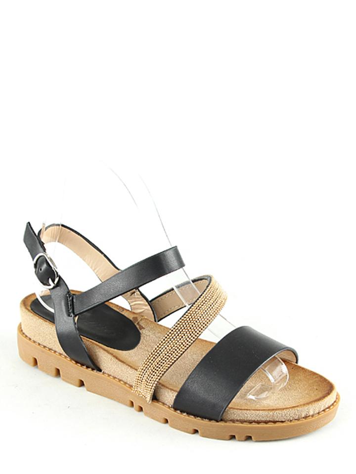 Catisa Sandaletten in Schwarz - 65% | Größe 39 | Damen sandalen
