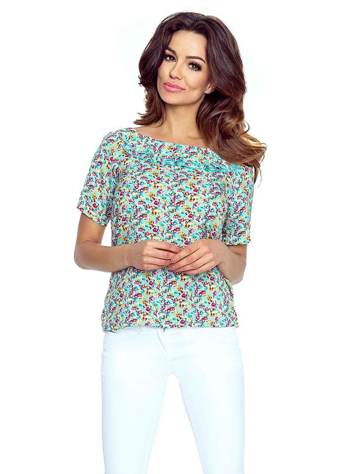 BERGAMO Shirt in Türkis - 77% | Größe M Damen tops - broschei