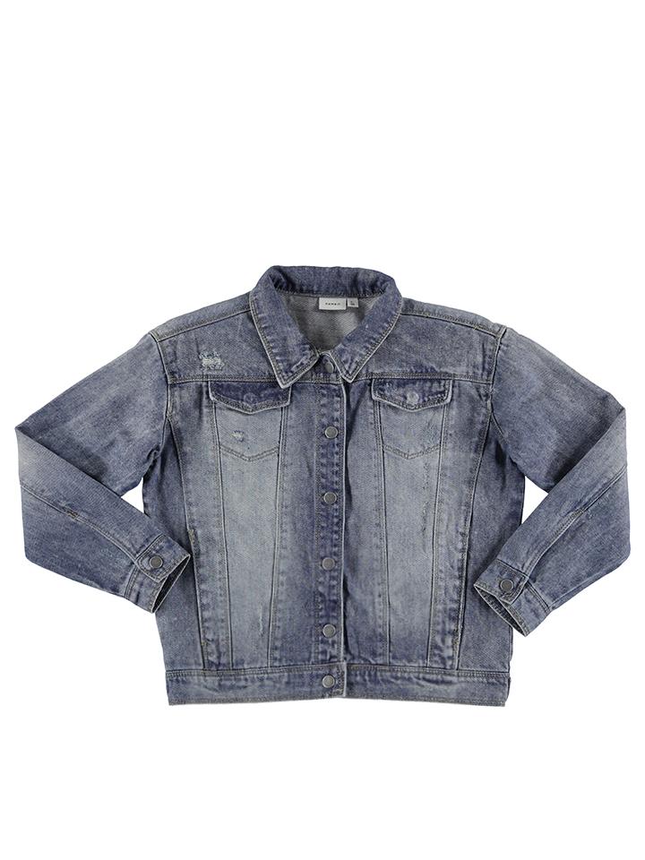 Name it Jeansjacke ´´Wov´´ in Blau -54% | Größe 164 Jeansjacken Sale Angebote Wiesengrund