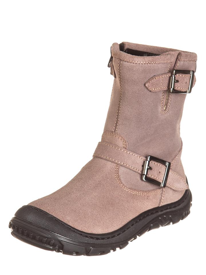 EB Shoes Leder-Stiefel in Rosa - 36%   Größe 35 Kinderboots