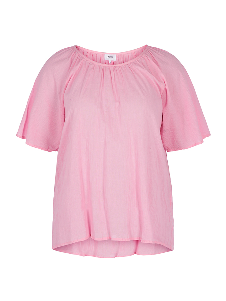 Zizzi Shirt in Rosa - 70% | Größe 46/48 Damen tops