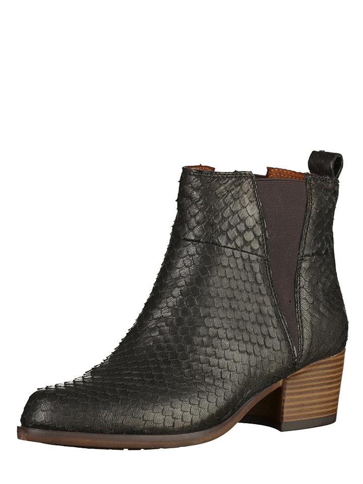 Tamaris Leder-Chelsea-Boots in Schwarz - 53% | Größe 39 Stiefeletten