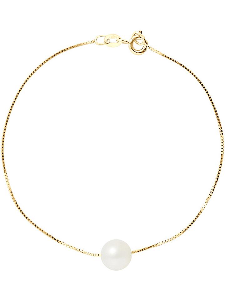 Pearline Gold-Armkette mit Süßwasserzuchtperle ...