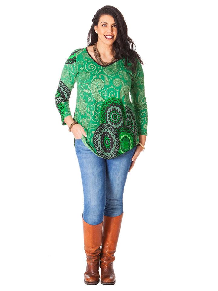 Guhrow Angebote Aller Simplement Shirt in Grün - 64% | Größe 54-58 Damen tops