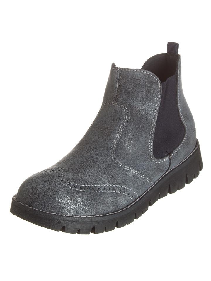 Guhrow Angebote Primigi Leder-Boots ´´Oxfy´´ in Grau - 49% | Größe 40 Kinderstiefeletten