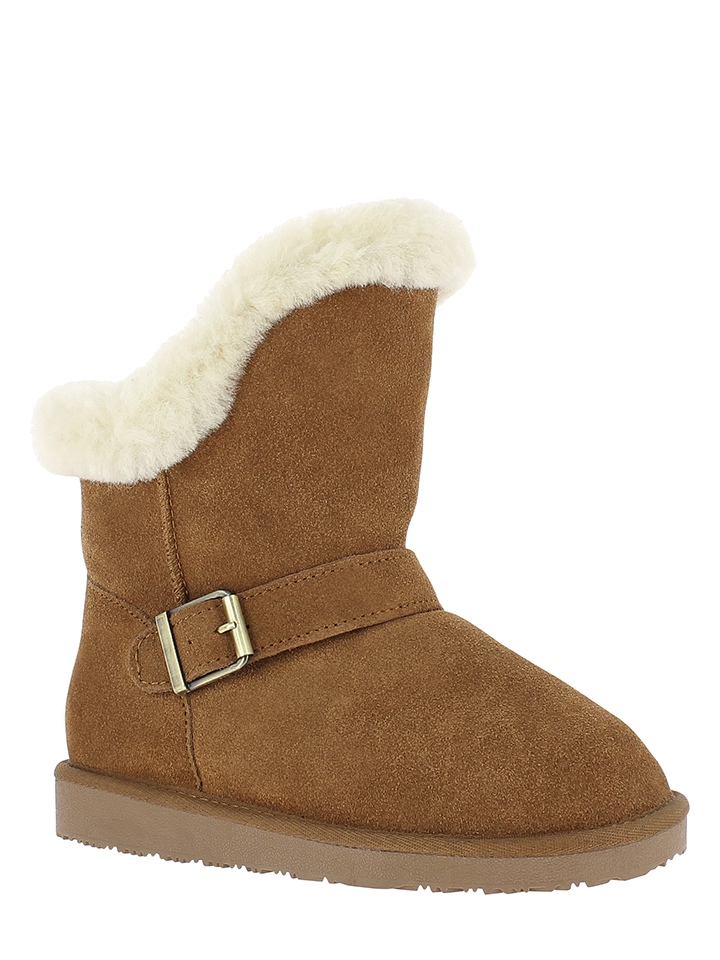Minnetonka Leder-Boots in Hellbraun - 37% | Größe 37 | Stiefeletten
