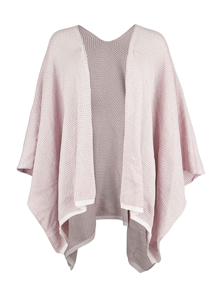 Zwillingsherz Poncho ´´Jutta´´ in Rosa - 48% | Damen pullover