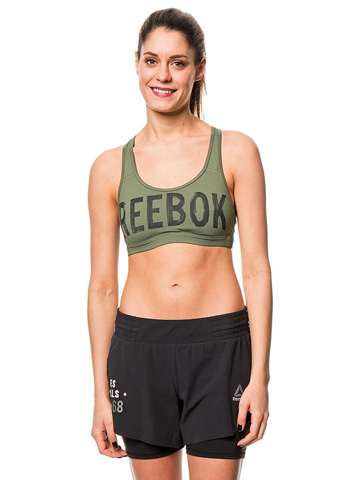 Reebok Sport-BH in Khaki - 37% | Größe XS | Dam...