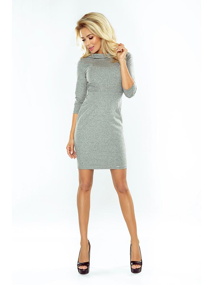 Numoco Kleid in Grau - 57% | Größe XL Damen kleider jetztbilligerkaufen